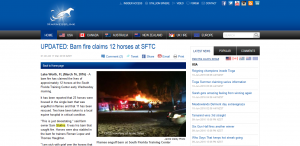 harnesslink south florida trotting center fire article thumbnail